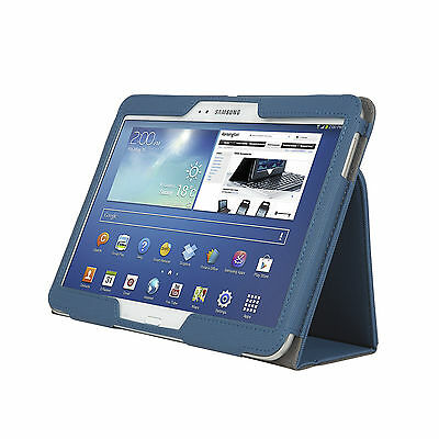"Samsung Galaxy Tab 3/4 10.1"" Android Tablet T530 Cover Case Stand BLUE"