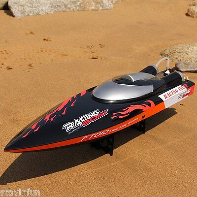 Fei Lun FT010 2.4GHz RC Racing Boat Wireless Remote Control Built-in Cooling New