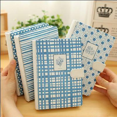 """""""Blue World"""" 1pc Journal Diary Cute Lined Planner Hard Cover Notebook Memo Gift"""
