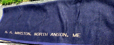 vintage sleigh blanket ,or carriage robe from H.H,MARSTON NORTH ANSON MAINE