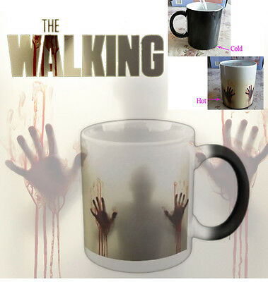 Funny The walking dead Color Changing coffee mug Hot Reactive Cold Ceramic Mugs