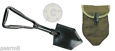 Entrenching Gear Shovel Tri-Fold with cover US Army