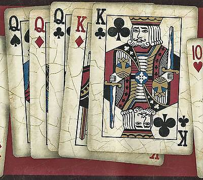 Canada$ Dramatic Poker Playing Cards - 60 feet ONLY $25 - Wallpaper Border A027A