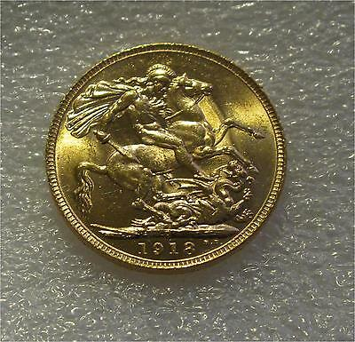 1918 England George V Sovereign  Gold Coin Australia Perth Mint State Superb