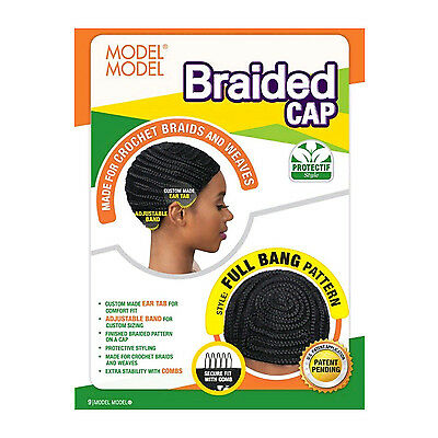 MODEL MODEL Protectif Style Braided Cap for Crochet Braids 1 2 3 Packs