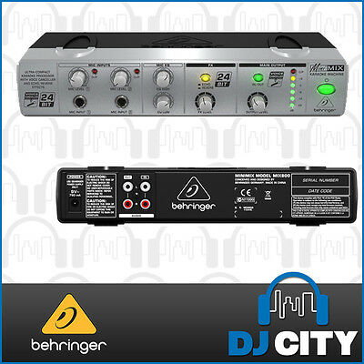 Behringer MIX800 Minimix Ultra Compact Karaoke Effects Processor
