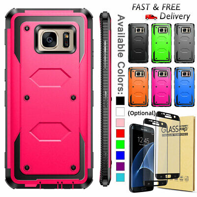 For Samsung Galaxy S6 S7 Edge Heavy Duty Hybrid Rugged Silicone Hard Case Cover