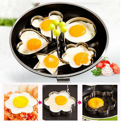 Cooking Kitchen Tools Stainless Steel Fried Egg Shaper Ring Pancake Mould Mold K