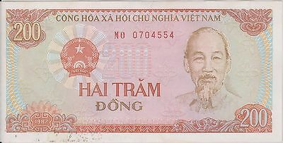(ICE-5) 1887 Vietnam 200 Dong bank note
