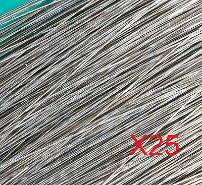 0.3mm diameter nickel-silver modellers wire - 2nd grade. Economy Pack of 25 pcs.