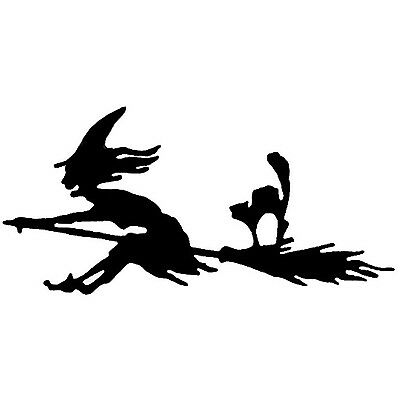 Large Steel Witch Weathervane or Sign Profile - Laser cut 400mm