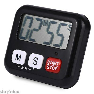 Kitchen Clock Digital LCD Cooking Timer Sport 99 Minute Count-Down Up Alarm