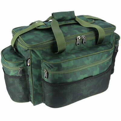 Large Camo Bag Carp Fishing Carryall Bag For Terminal Tackle Bait Ngt