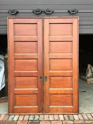 A R 47 One Pair Fine Raise Panel Pocket Doors