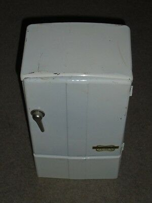 Vintage Antique Rare Kiddyware Metal Salesman Sample/ Toy Refrigerator Freezer