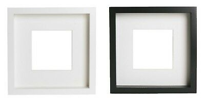 IKEA RIBBA PHOTO FRAME PICTURE 23 x 23CM WHITE BLACK