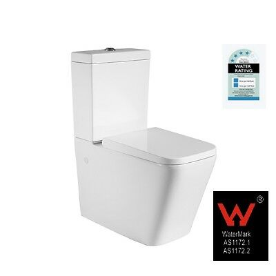 White Wall Faced Toilet Suite, S Or P Trap