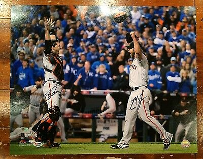 Buster Posey & Madison Bumgarner Autographed 16x20 SF Giants Photo PSA MLB