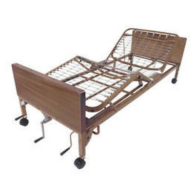 Drive Medical Multi Height Manual Hospital Bed with Half Rails 15003BV-HR New