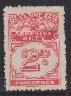 (STB-72) 1940 QLD 2d red Adhesive duty MNG