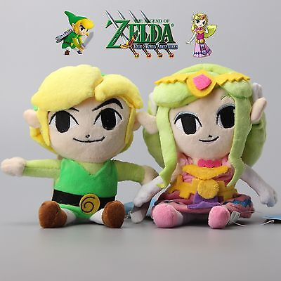 2X The Legend of Zelda Princess Zelda Link Nintendo Stuffed Animal Plush Toy 7""