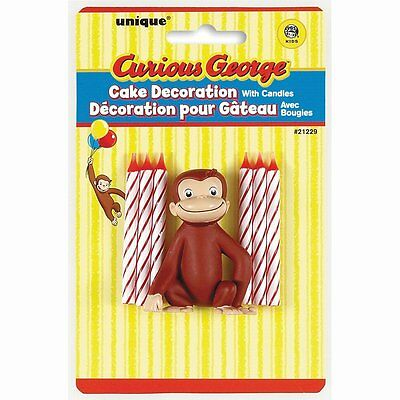 Curious George Cake Topper & Birthday Candle Set by Unique [21229] BRAND NEW