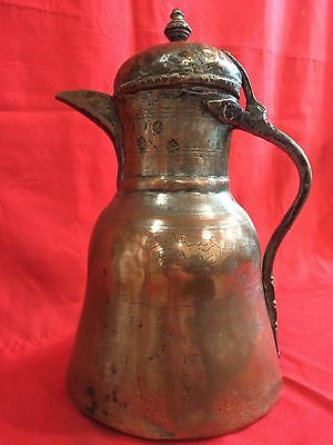 Antique Islamic Ottoman Turkish Jug Ewer Pitcher Tombak Tughra 1799 Inscription