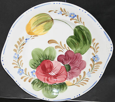 Serving Plate 1 Chanticleer Belle Fiore Simpsons, Cobridge Hand Painted 25 cm