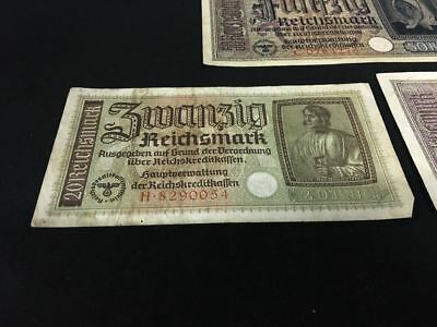 Banconote Tedesca Germania Reichmark Pfennig Mark Germany Nazi 3° Reich Deutche