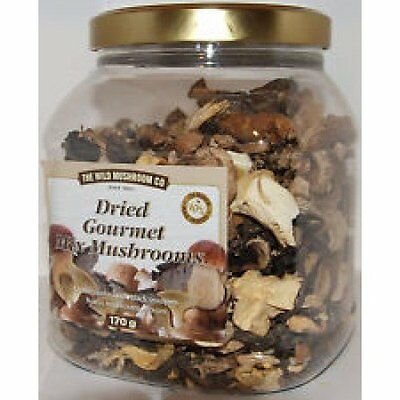 Dried Gourmet Mix Mushrooms Oyster Black Trumpets Button and Porcini, 170g