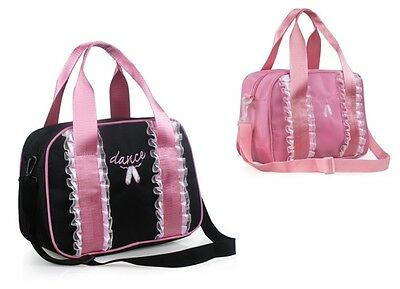 UK SELLER Lovely Kids Girls Pink / Black BALLET DANCING Handbag Shoulder BAG