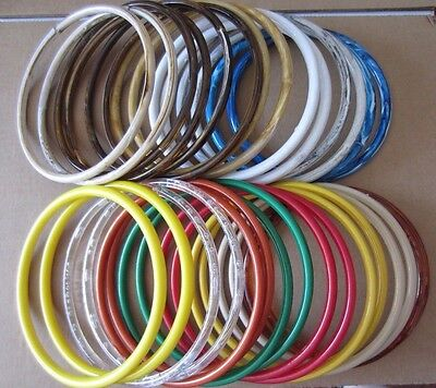 """Lot of 15 Pairs Assorted Color 8"""" Round Plastic Macrame Purse Handles Craft Ring"""
