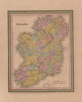 Ireland Vintage Map Mitchell Cowperthwait 1853 Original