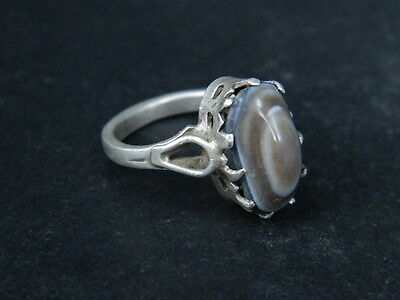 Antique Silver Ring With Stone 1900 AD    #STC295