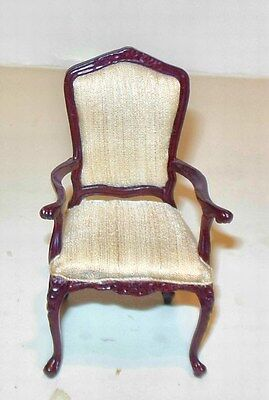 Bespaq French Arm Chair Carved  Dollhouse Furniture Miniatures