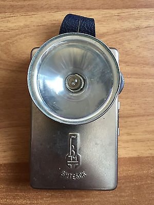 Vintage USSR Metal Flashlight Lantern VITEBSK Old Soviet 1950's