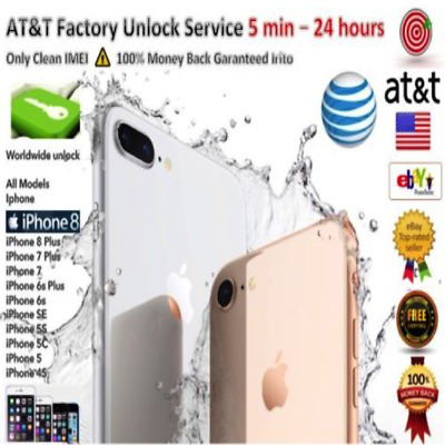 Factory Unlock code service imei AT&T for iPhone 8 Plus 8 7 Plus 7 6 fast 1-24hr