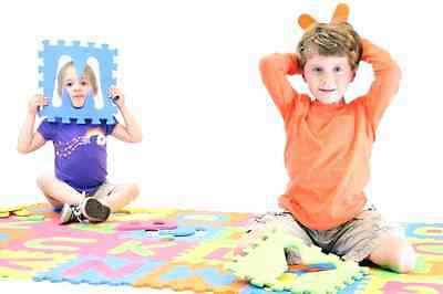 Alphabet ABC Foam Floor Puzzle Mats. Kid Learning Letter Play Tile Gym Exercise