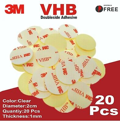 3M VHB Double Sided Adhesive 20 Pcs Strong Adhesive Tape 1mm thick clear