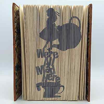 Book Folding Patterns~ Cut & Fold ~create your own book art  Alice in wonderland