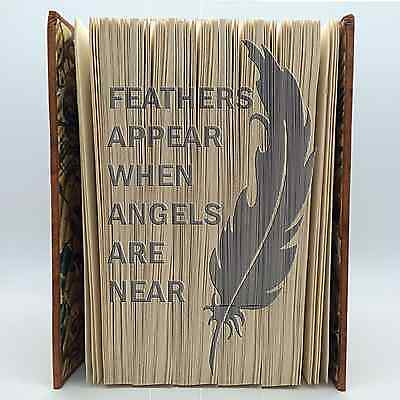 Book Folding Pattern - Cut & Fold - Feathers appear when angels are near