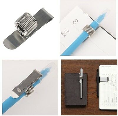 NEW MUJI stainless pen holder ( single x 1 ) made in japan quality f/s moma clip