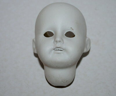 old German bisque doll head for glass eyes-09