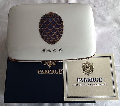Faberge' Imperial Collection Box Pine Cone Egg Scatola in Porcellana Limonges