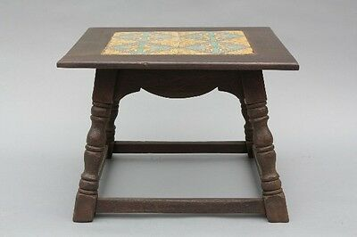 1930s California Taylor Tile Table Antique Spanish Revival Vintage Tudor (9098)