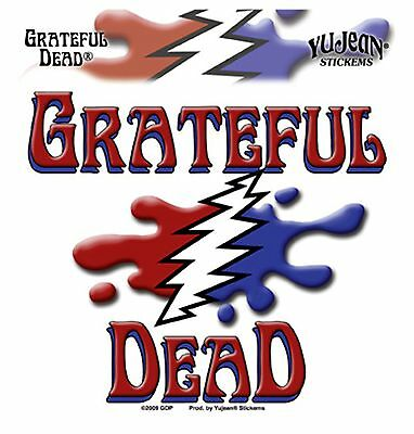 Grateful Dead Melting Name Logo Sticker 5'' x 5.25'' Die-Cut Long Lasting