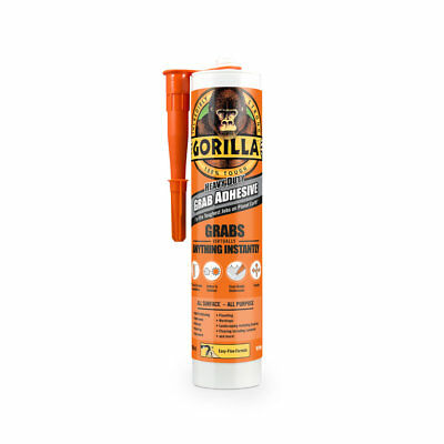 Gorilla Heavy Duty GRAB ADHESIVE White All Purpose Bond 290ml Instant Nails