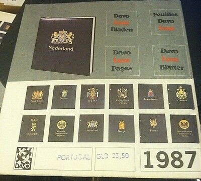 DAVO ALBUMS STAMP ALBUM PAGES For PORTUGAL 1987  NEW High Quality RARE