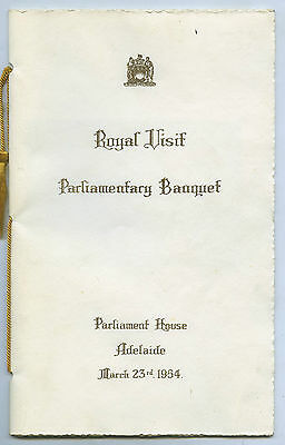 1954 ROYAL VISIT PARLIAMENTARY BANQUET JOHN GOODCHILD ETCHING SIGNED m67.