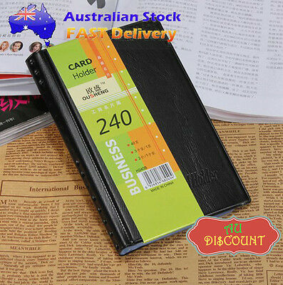 240 Leather Business Name ID Credit Card Holder Booklet Folder Wallet Organizer